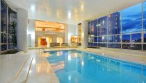Indoor private pool of the parque lleras el poblado prive luxury furnished penthouse apartment